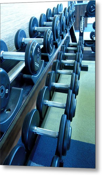 Weights Vertical Metal Print