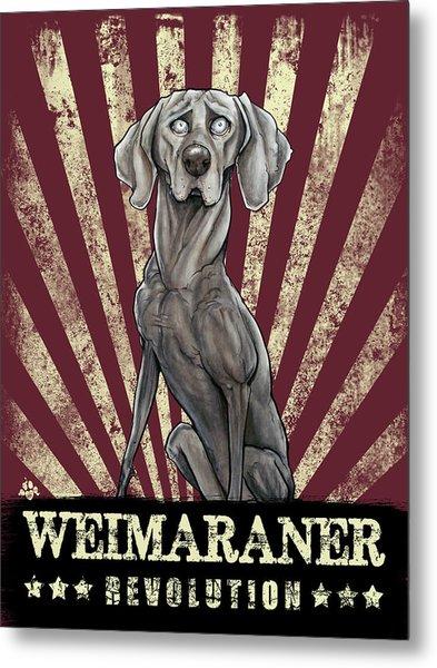 Weimaraner Revolution Metal Print