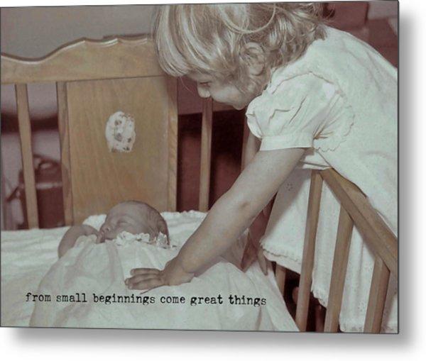 Welcome Baby Quote Metal Print by JAMART Photography