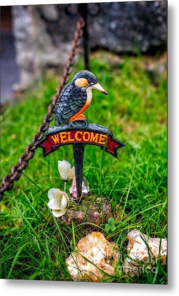 Welcome Sign Metal Print