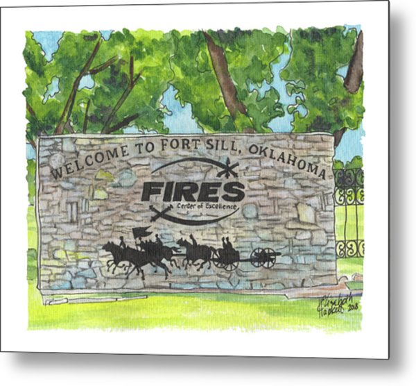 Welcome Sign Fort Sill Metal Print