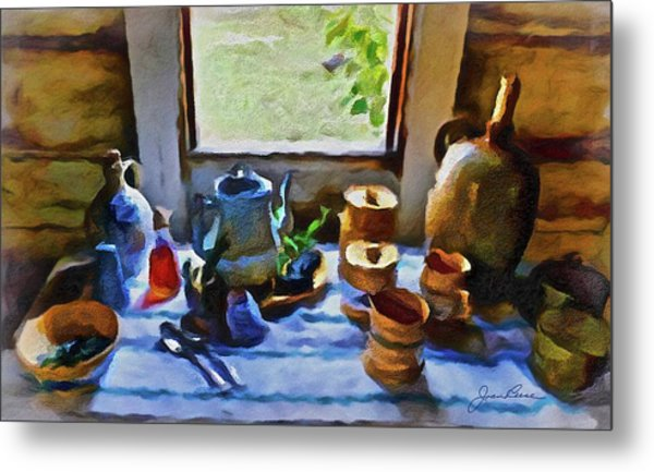 Metal Print featuring the painting Welcome Table by Joan Reese