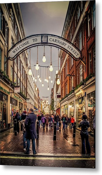 Welcome To Carnaby Street London Metal Print by Alex Saunders