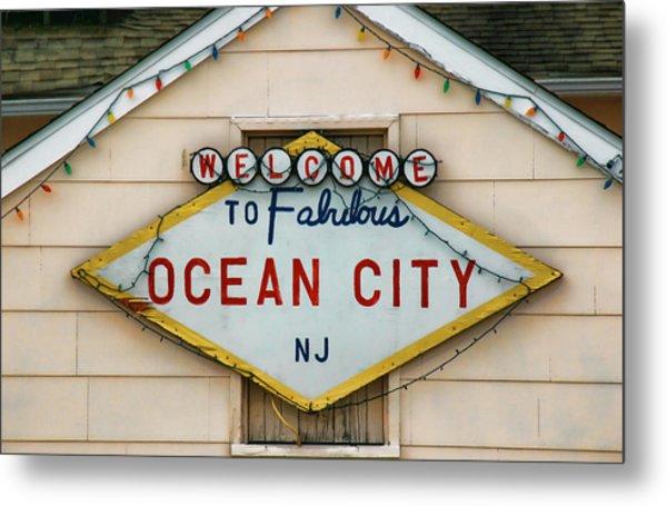 Welcome To Fabulous Ocean City N J Metal Print