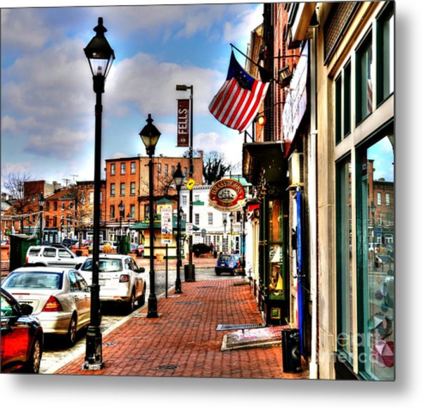Welcome To Fells Point Metal Print