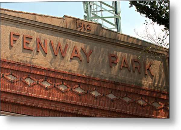 Welcome To Fenway Park Metal Print