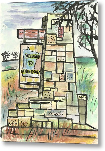 Welcome To Minnesota Metal Print
