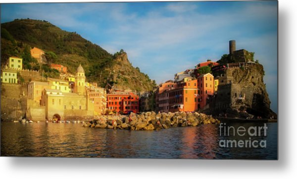Welcome To Vernazza Metal Print