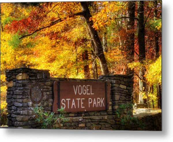 Welcome To Vogel State Park Metal Print