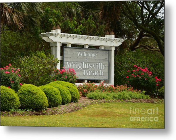 Welcome To Wrightsville Beach Nc Metal Print