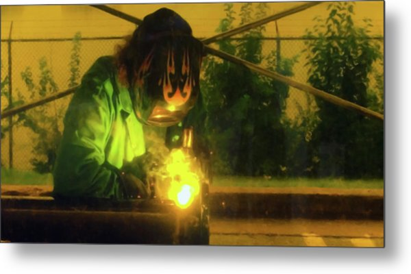 Welder 3 Metal Print by Andrew Wohl
