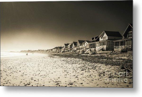 Wells Beach Maine Infrared Metal Print
