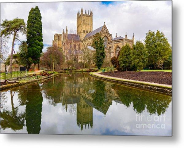 Wells Cathedral Metal Print