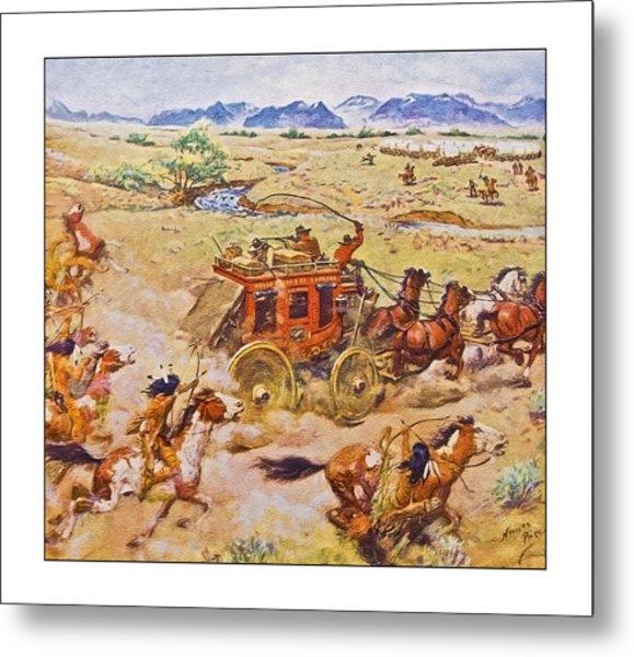 Wells Fargo Express Old Western Metal Print
