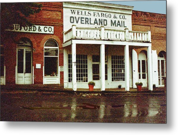 Wells Fargo Ghost Station Metal Print