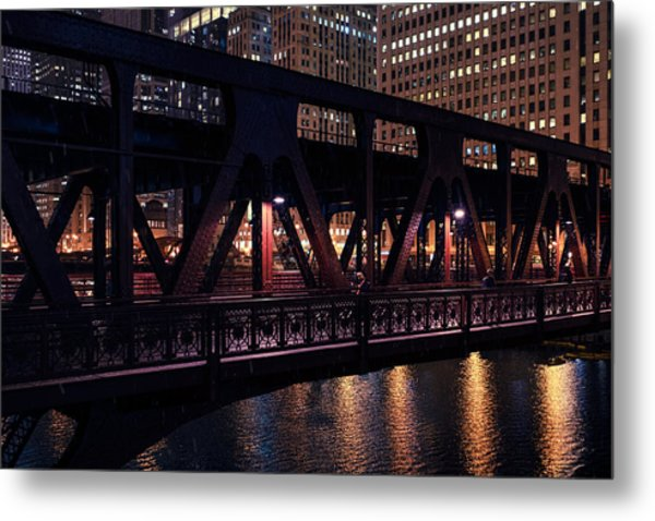 Wells Street Bridge II Metal Print