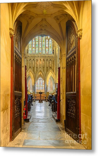 Wellscathedral, The Quire Metal Print