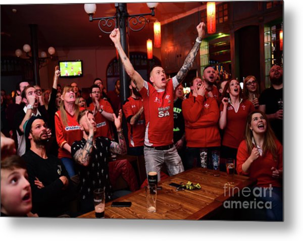 Welsh Rugby Fans Metal Print