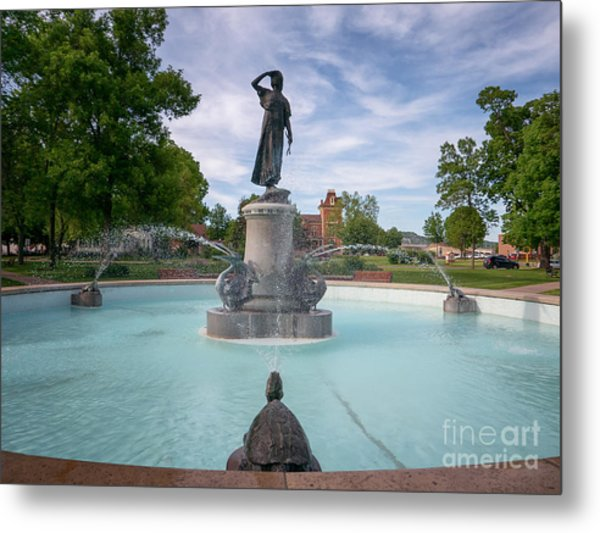 Metal Print featuring the photograph Wenonah Fountain Winona Mn by Kari Yearous
