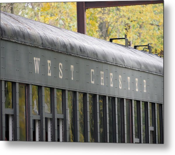 West Chester Railroad - Passenger Car Metal Print