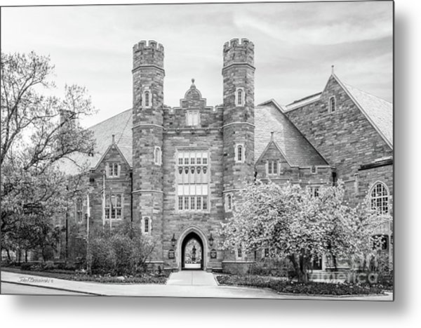 West Chester University Philips Hall Metal Print