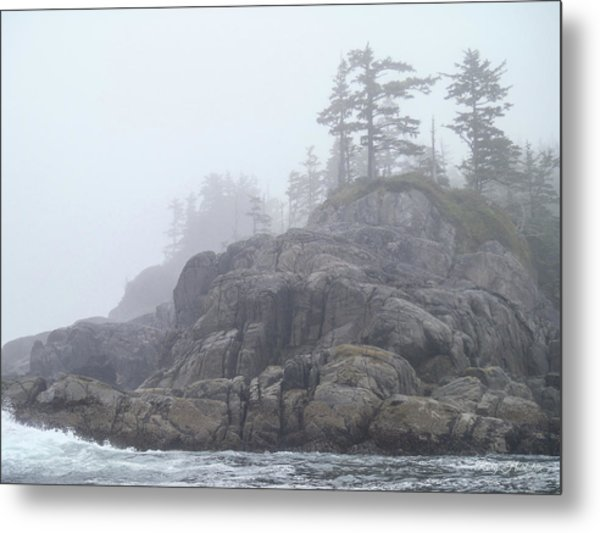 West Coast Landscape Ocean Fog I Metal Print