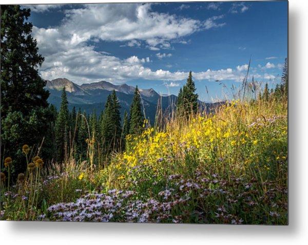 West Elk Mountain Range Metal Print