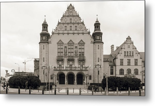 West Facade Of Adam Mickiewicz University Poznan Poland Metal Print
