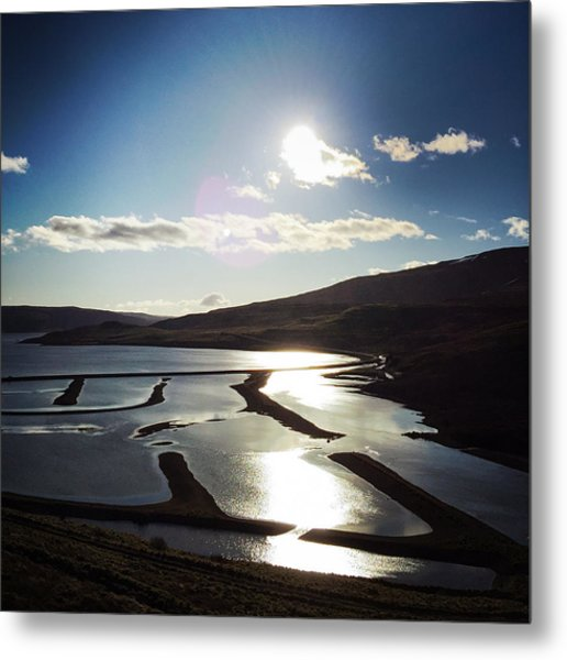 West Fjords Iceland Europe Metal Print