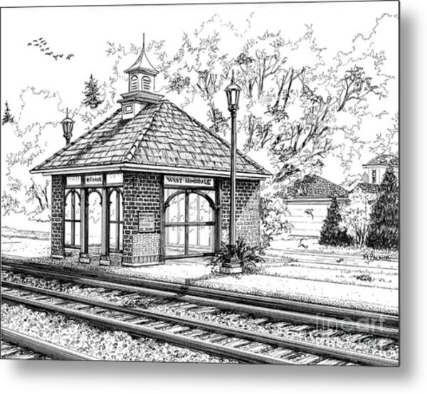 West Hinsdale Train Station Metal Print