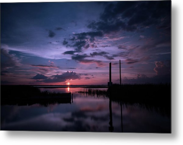 West Lake Toho Blu Indigo Sunset Metal Print