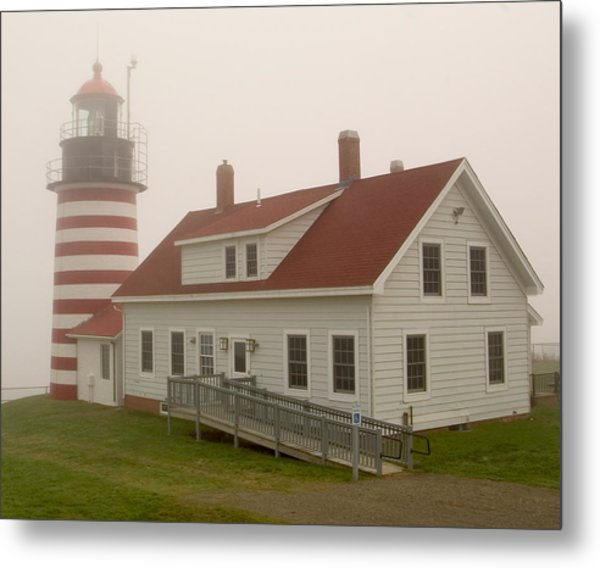 West Quoddy In Fog Metal Print