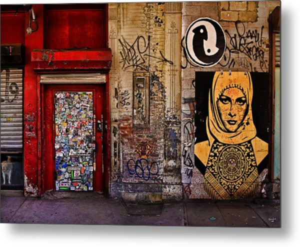 West Village Wall Nyc Metal Print