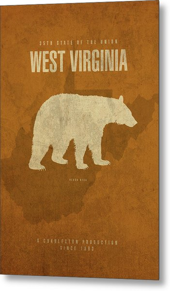 West Virginia State Facts Minimalist Movie Poster Art Metal Print