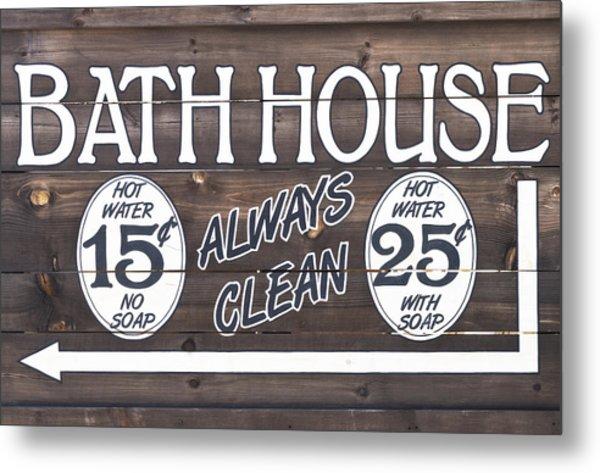 Western Bathhouse Sign Metal Print
