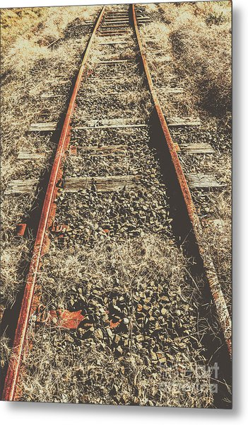 Western Railway Of Routes Forgotten Metal Print