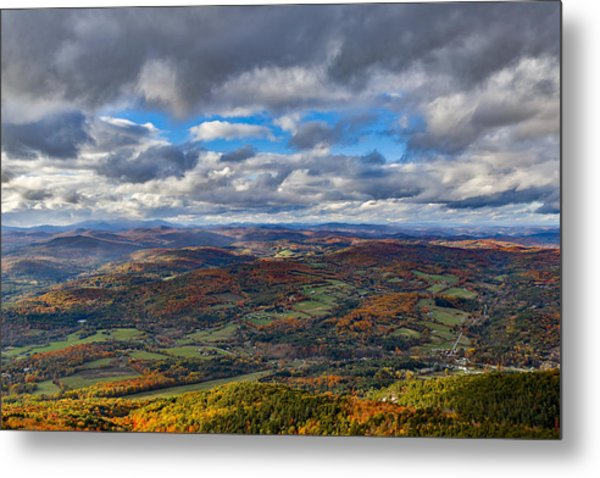 Western View From Mt Ascutney Metal Print