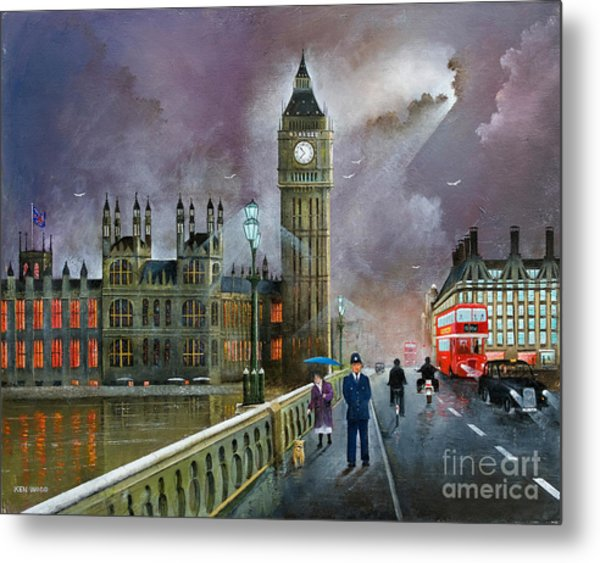 Westminster Bridge Metal Print