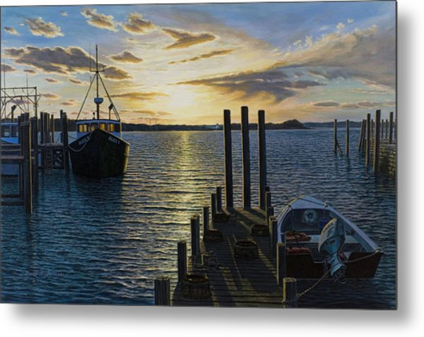 Westport Harbor Metal Print by Bruce Dumas
