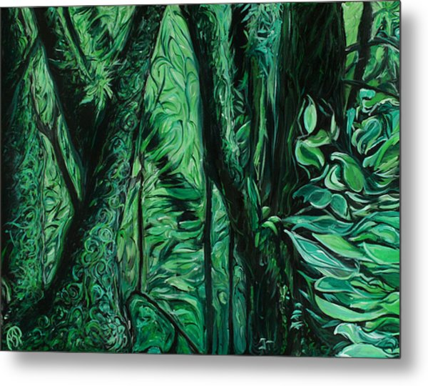 Wet Forest Metal Print