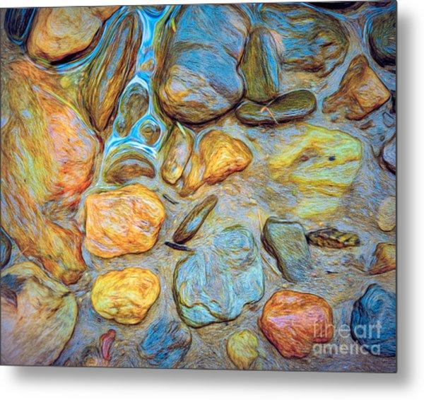 Wet Stones Metal Print