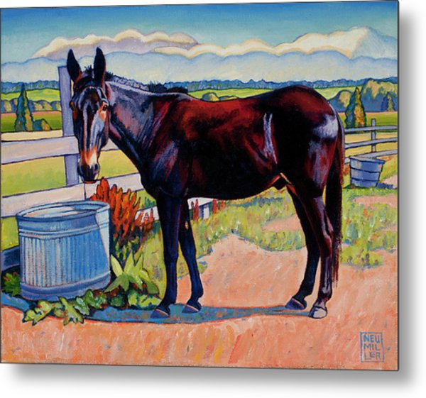 Wetting His Whistle Metal Print