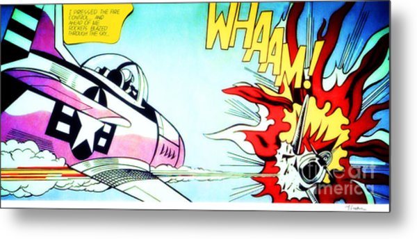 Whaam - Roy Lichtenstein  Metal Print
