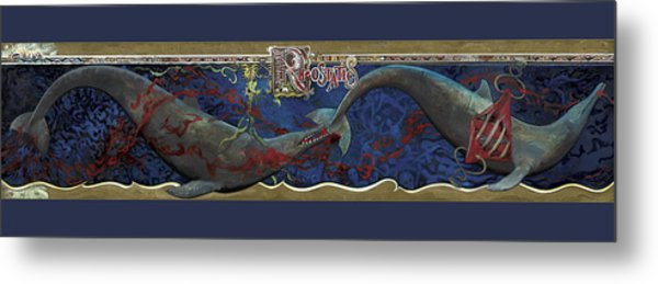 Whale Music Metal Print by Martin Tielli