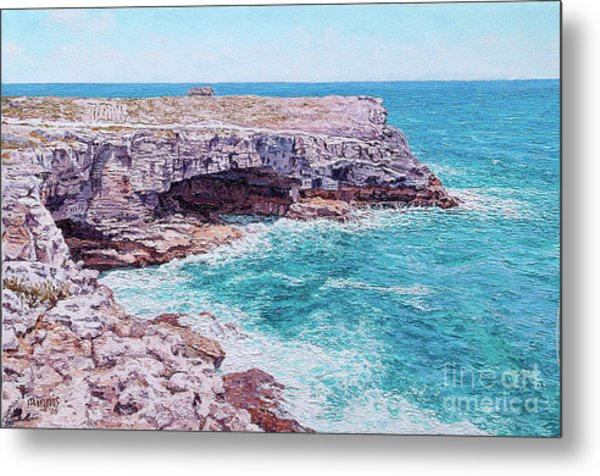 Whale Point Cliffs Metal Print