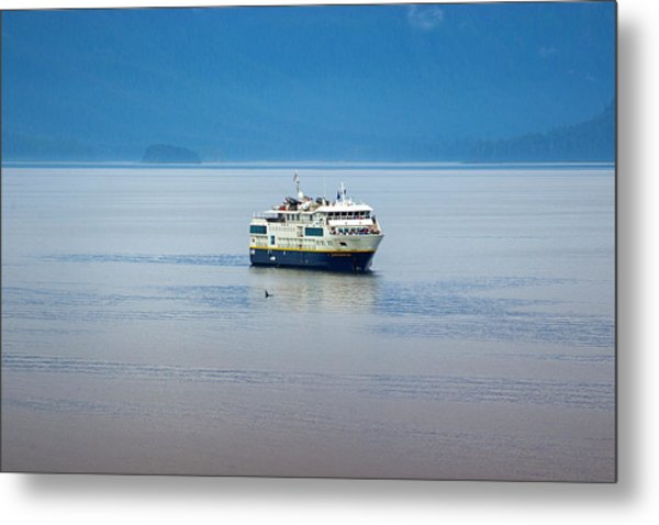 Whale Watching In Glacier Bay Metal Print