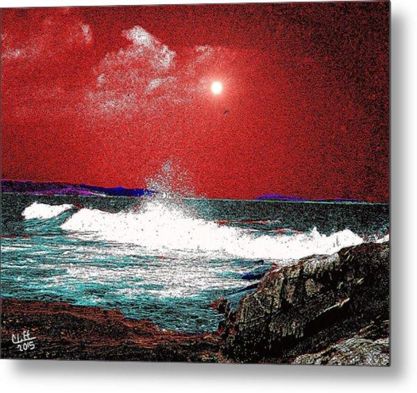 Whaleback At Peaks Island Maine Metal Print