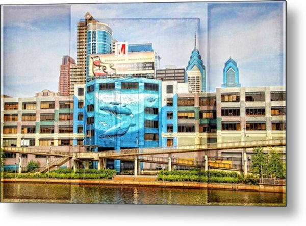 Whales In The City Metal Print