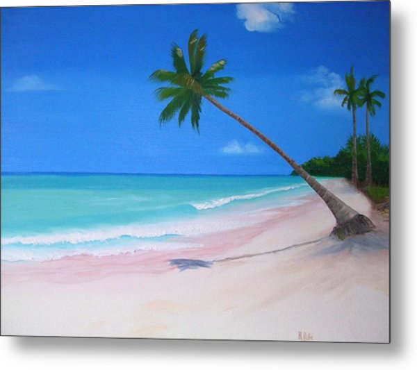 What A Beach Day Metal Print