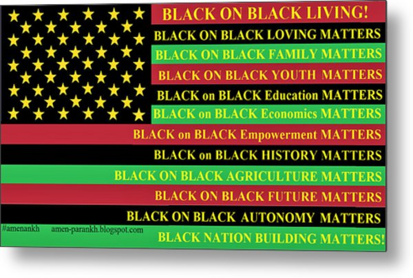 What About Black On Black Living? Metal Print